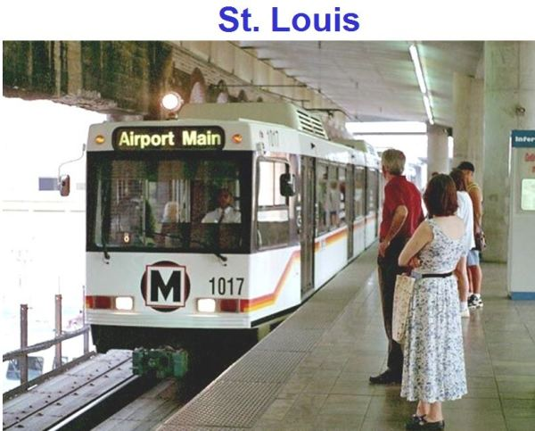 St. Louis is one example for which study data was available. Metrolink light rail transit system has attracted a more diverse ridership than bus system.